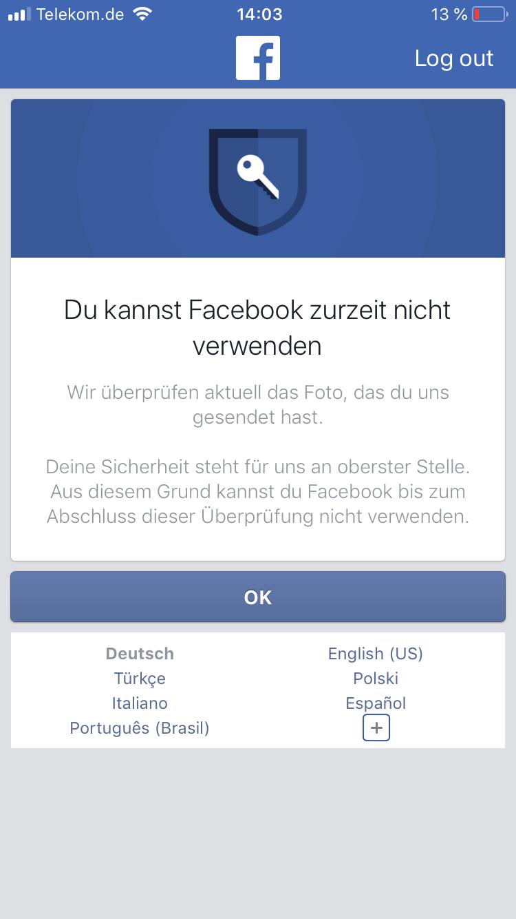 Facebook Markieren Geht Nicht