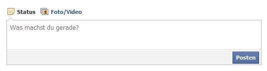 So sieht mein Status-Fenster aus - (Facebook, Frage stellen)