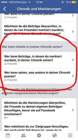 Was ist der Unterschied zwischen den beiden Punkten  - (Facebook, Unterschied)