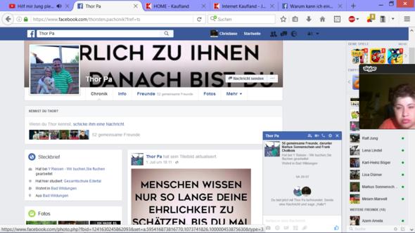 Facebook Freundschaftsanfrage versendet jetzt wird nur