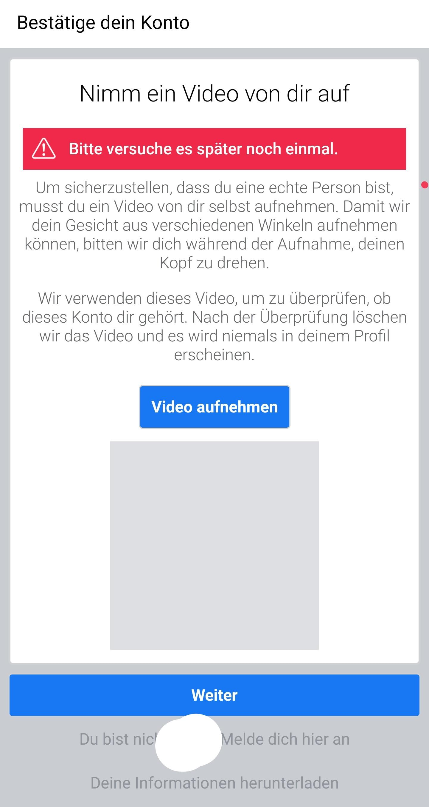 Facebook Identität Bestätigen