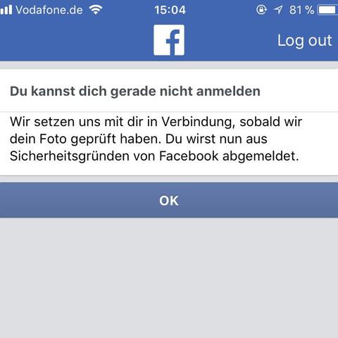 Facebook Konto Gesperrt Identifizieren