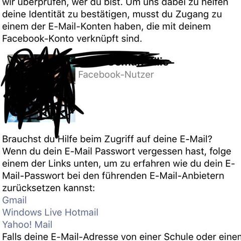 facebook passwort vergessen