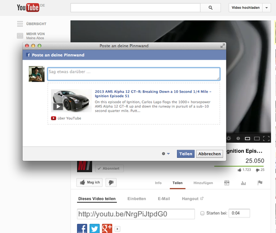 Facebook Share Youtube - (PHP, Wordpress, Social media button)