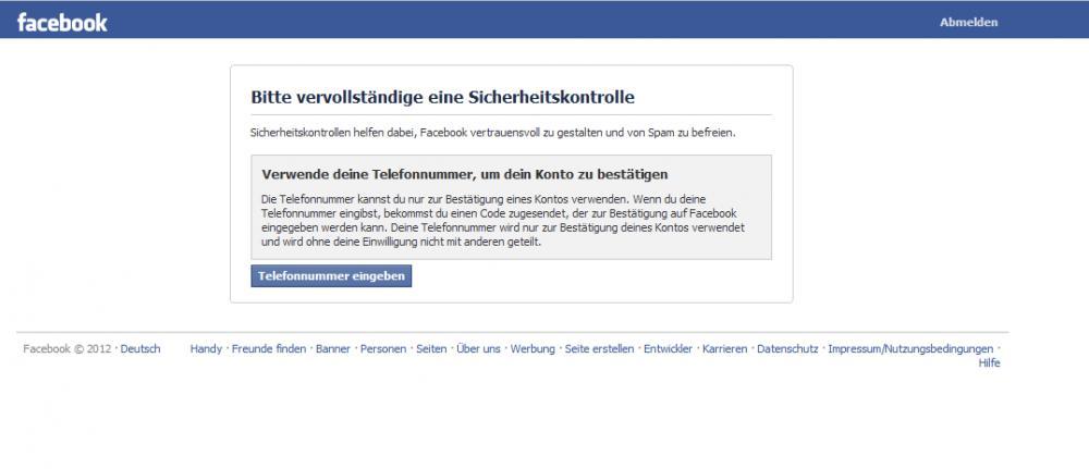 Facebook Telefonsicherheitsfrage umgehen? (Sicherheit