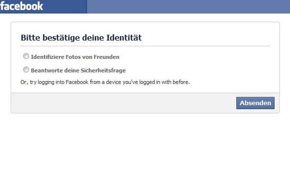 Facebook Identität