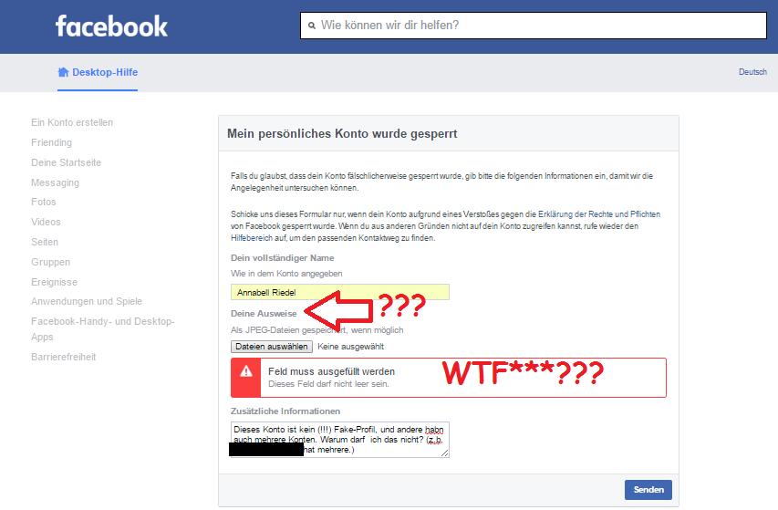 Facebook Will Ausweis