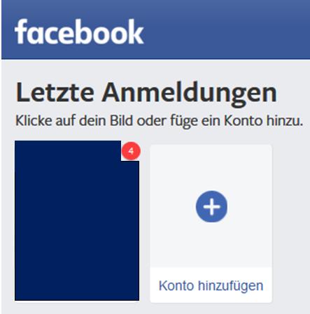 Facebook Zeigt Bei Login über Profilbild Neue Benachrichtigungen