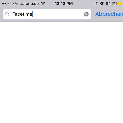 Und unter Einstellungen auch nicht  - (iPhone, Apple, facetime)