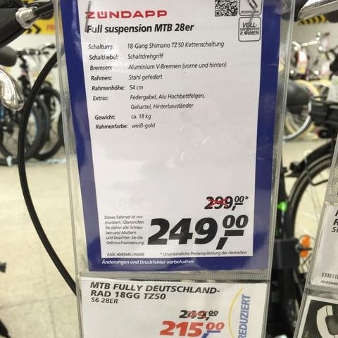 215€ von 300€ - (Geld, Preis, Fahrrad)