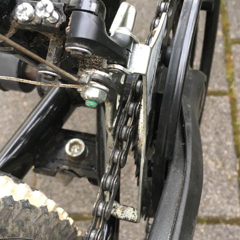 Hier der Umwerfer - (Fahrrad, Mountainbike, Kette)