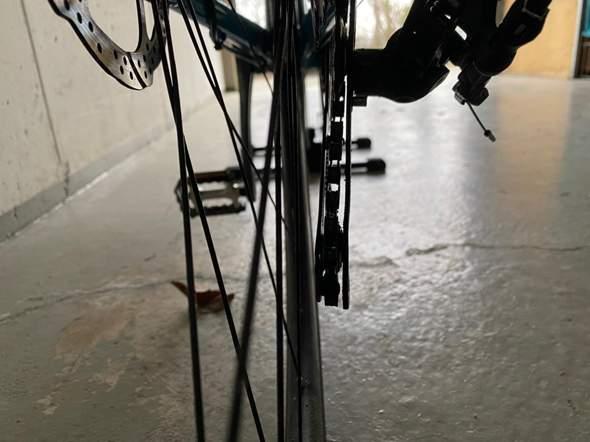 Fahrradkette nachinnen rausgesprungen?