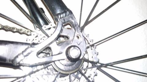 Rahmen hinten - (Fahrrad, Bike, scheibenbremse)