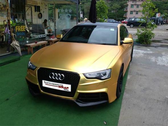 audi in satin gold chrom - (Tuning, Gold, Audi)