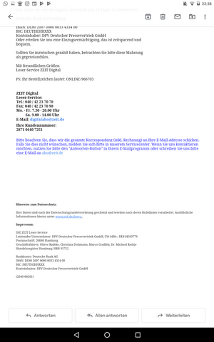 Mahnung Mail Und Media