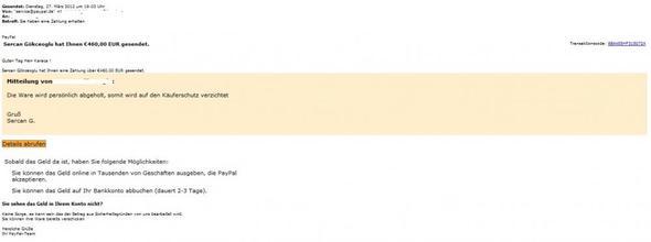 Email von Paypal - (PayPal, Betrug, Fake)