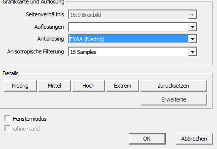 Screenshot von der auflösung in vollbild - (PC, Fehler, Grafik)