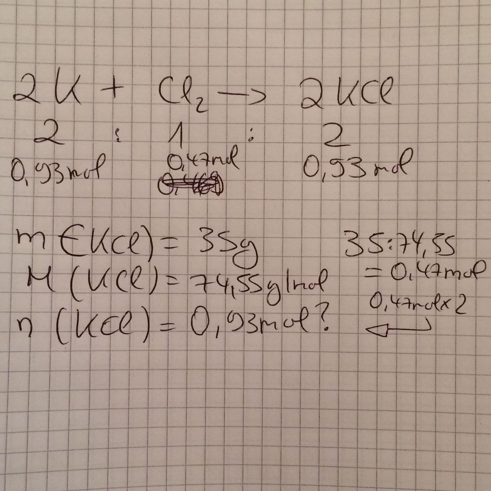 Falsche Lösung Chemisches rechnen? (Mathe, Chemie, Stöchimetrie)