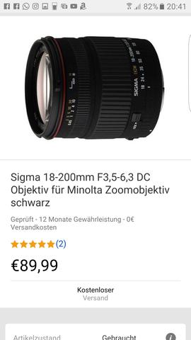 Sigma 18-200mm für Minolta DC - (Kamera, Objektiv)