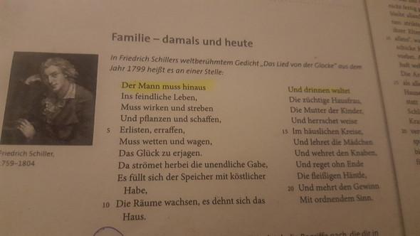 Familie Damals Und Heute Gedicht Friedrich Schiller