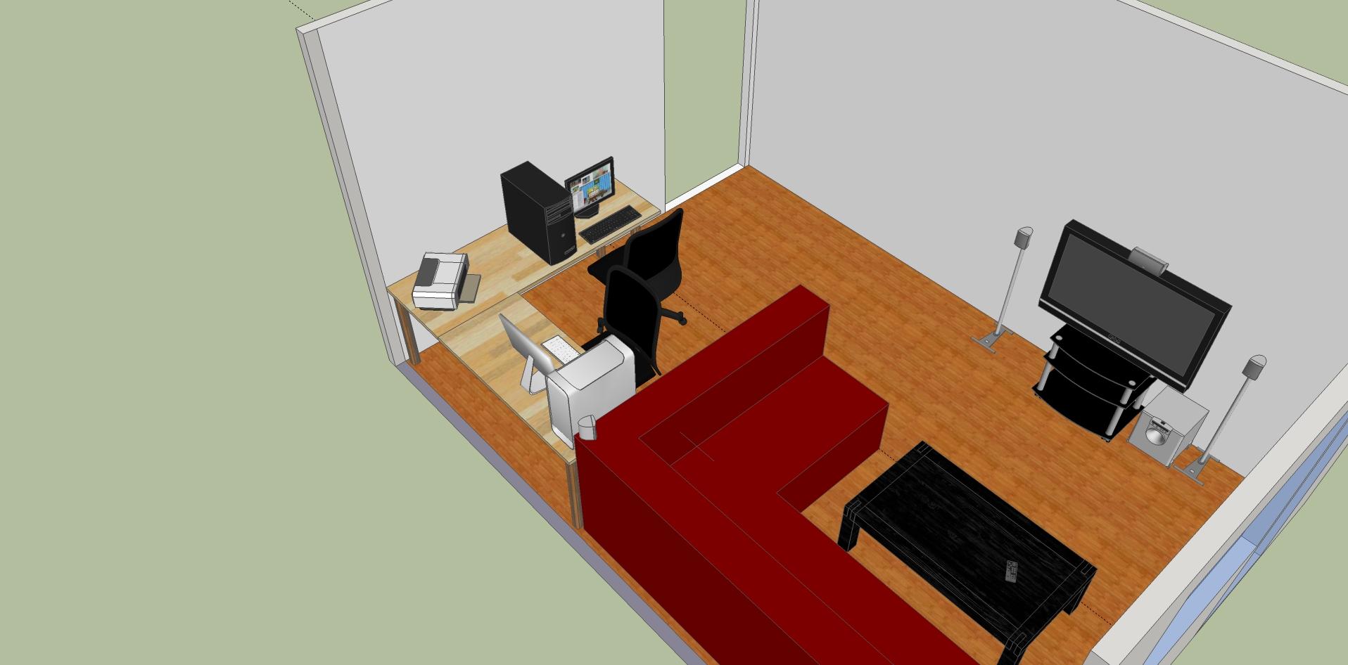 farbige arbeitsplatte f r schreibtisch selbstbau. Black Bedroom Furniture Sets. Home Design Ideas