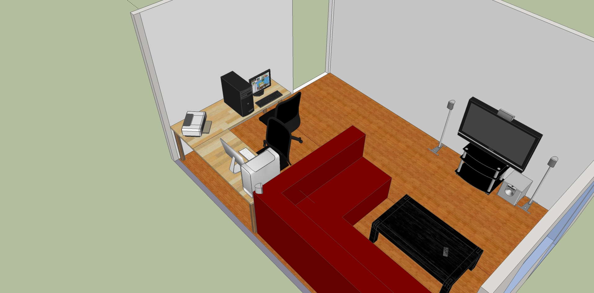 Schreibtisch Im Wohnzimmer | Bnbnews.co, Wohnzimmer