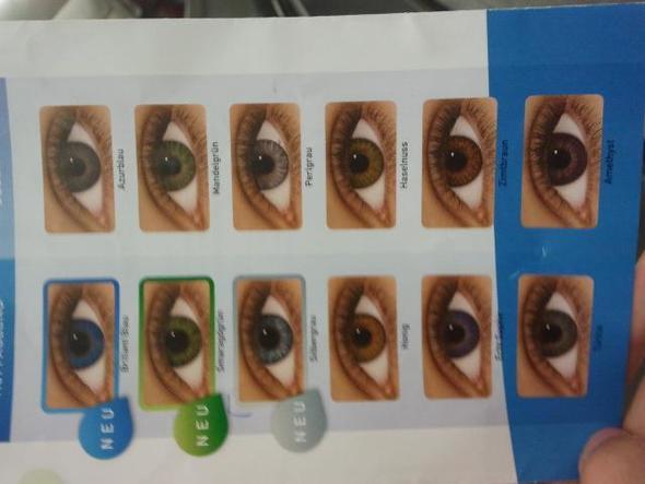 farben - (Farbe, Kontaktlinsen)