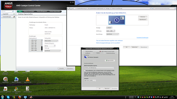 Mit diesen Einstellungen arbeite ich standardmäßig - (PC, Grafikkarte, Windows 7)
