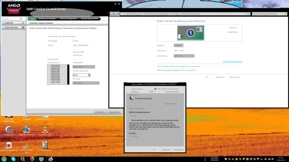 Das passiert mit der Farbtiefe, wenn ich den Takt auf 60 Hz erhöhe - (PC, Grafikkarte, Windows 7)