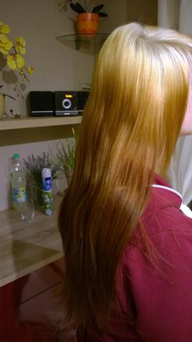 Braune haare nach blondierung
