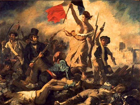 Die Freiheit führt das Volk, Eugène Delacroix - (Schule, Bilder, Kunst)