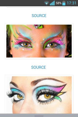 Faschings Makeup Make Up Fasching