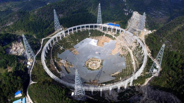 500 Meter telesop in china für Alien Free TV - Radio - (fast, china Teleskop)