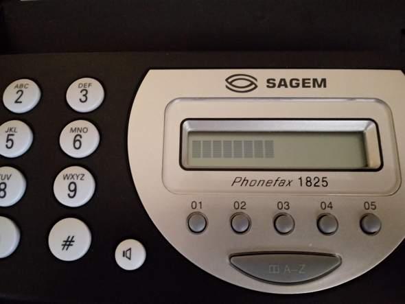 Fax einstellen geht nicht, Display nur schwarze Streifen?