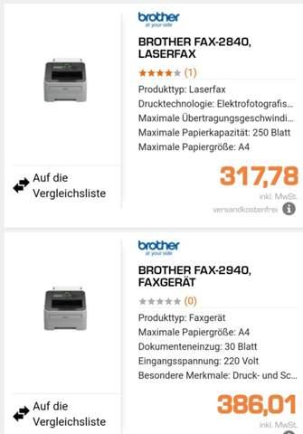 Faxgeräte?