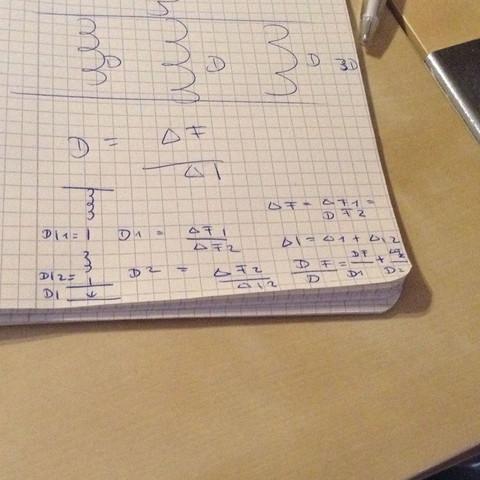 Das sind Formeln von meinem lehrer - (Schule, Physik, Federkonstante)