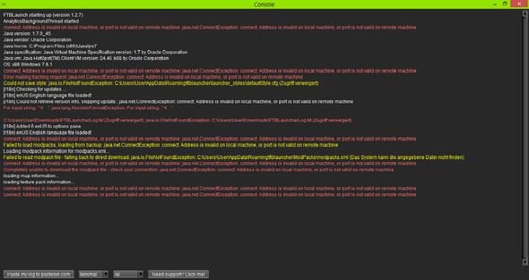 consolen fehlermeldungen - (Minecraft, Server, Mods)