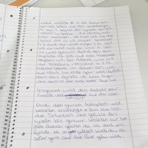 Feedback Zu Meiner Analyse Bitttte Schule Deutsch Gedicht