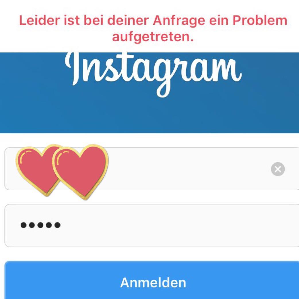 Fehler bei der Instagram Anmeldung? (Computer, Technik