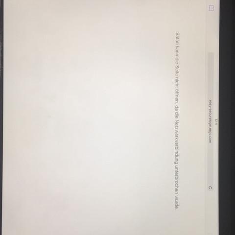 Siehe Bild. - (iPad, Browser, Safari)