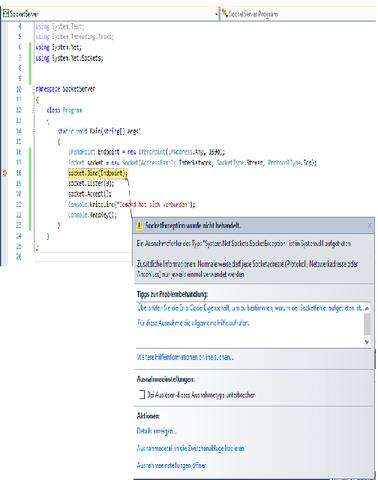 Fehlermedlung - (Computer, programmieren, sprache c)