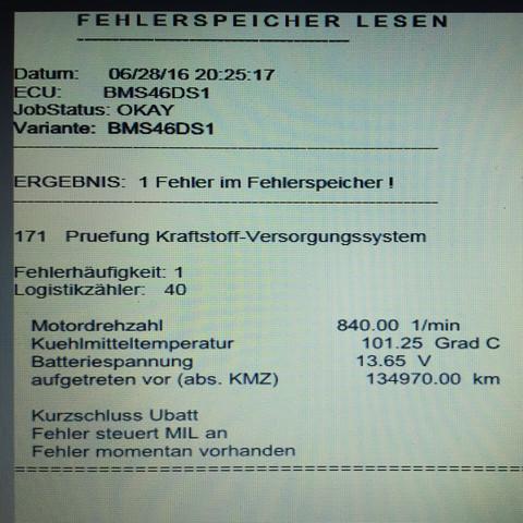 Fehlerspeicher  - (Auto, BMW, E46)