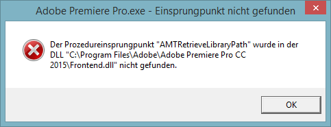 So sieht die Fehlermeldung aus... - (Computer, PC, Technik)