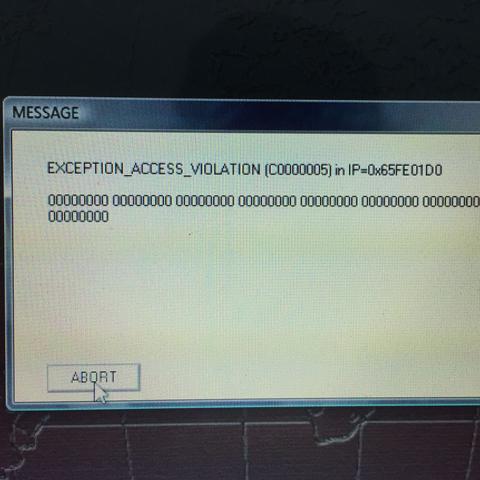 Fehlermeldung: Exception Access Violation! Hilfe