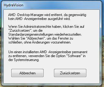 Fehlermeldung nach Treiber-Update bei einer AMD Grafikkarte