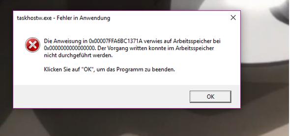 Fehlermeldung - (PC, Windows, Fehler)