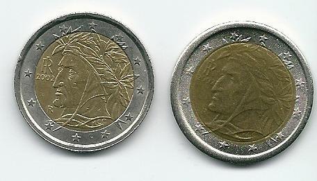 Fehlprägung Einer Italienischen 2 Euro Münze Münzen