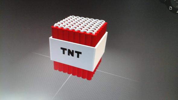 Die TNT Bombe, die ich am PC gebaut habe. - (Computer, Windows 10, 3D Builder)