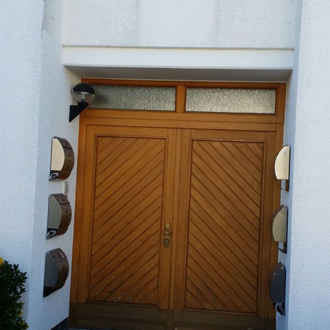 Haustür  - (Arbeit, Holz, Fenster)