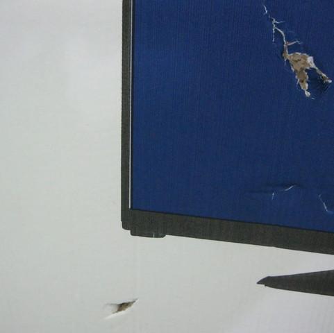Beschlägt genau wo der Bildschirm kaputt ist  - (Bildschirm, Beschädigt einschicken Fernseher, Transport Schäden)
